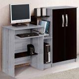 Mesa para Computador Super Office Cinza & Preta