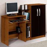 Mesa para Computador Super Office Imbuia&Preta