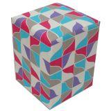 Puff Quadrado -Tecido VD - Formas Rosa