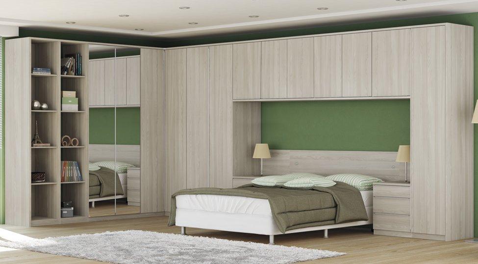 Armario De Quarto Casal Modulado : Quarto de casal modulado square portas gavetas
