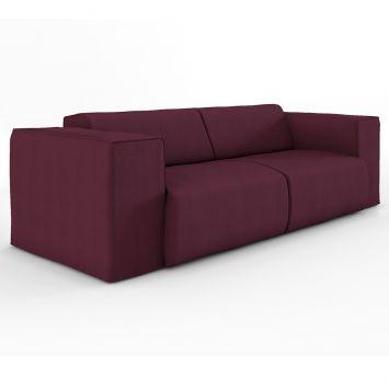 Sofá 3 Lugares Comfort Eco Algodão Bordô Mobly Comfort