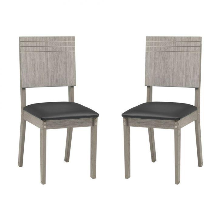 Kit 2 Cadeiras Lugano Carvalho Ferroso |Modocasa