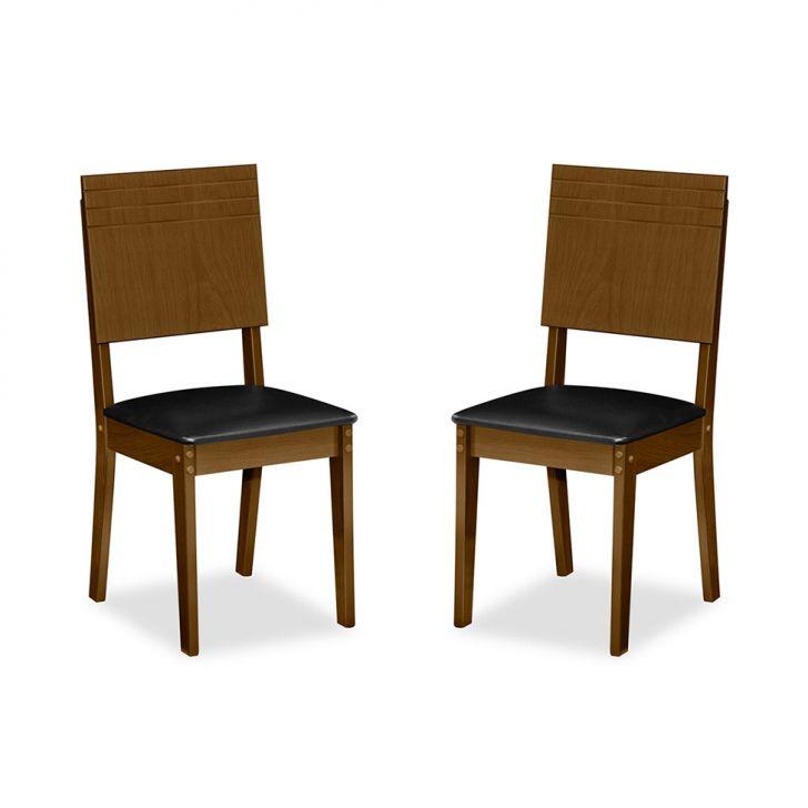 Kit 2 Cadeiras Lugano Imbuia