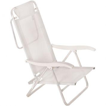 Cadeira de Praia Alta Branca Mor Cadeira Sol de Verão