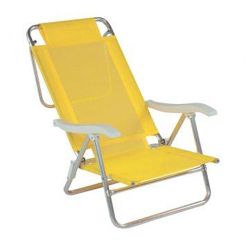 Cadeira de Praia Sol de Verão Amarelo Mor Cadeira Sol de Verão