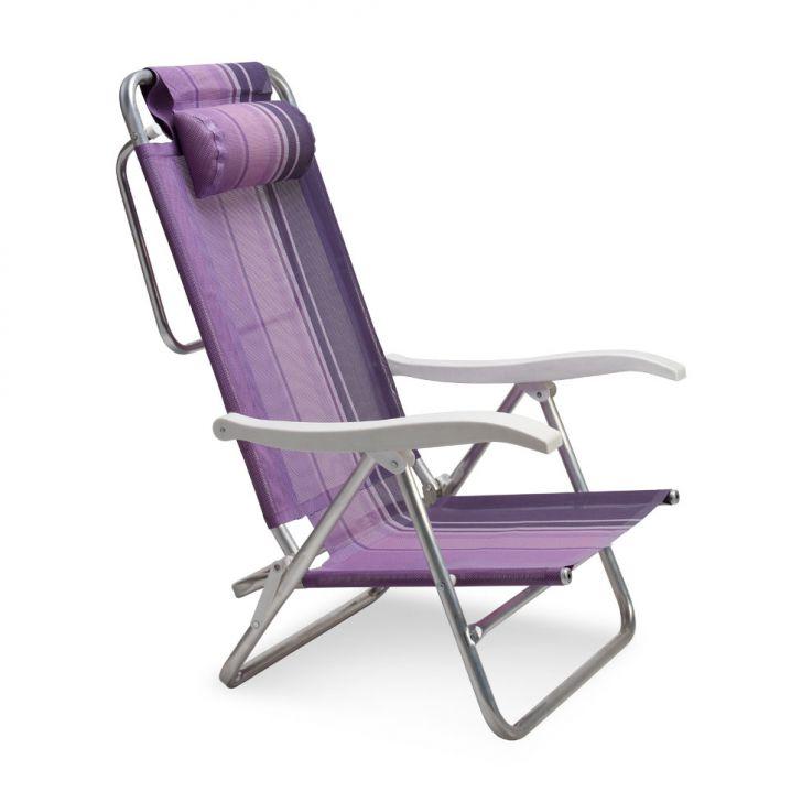 Cadeira de Praia Sol de Verão Boreal Lilás Mor