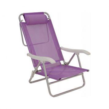 Cadeira de Praia Sol de Verão Plus Lilás Mor Cadeira Sol de Verão Plus