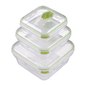 Conjunto Potes Mor A Vácuo 3 Peças Verde Mor 8242