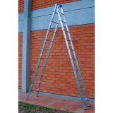 Escada Extensível 2 x 10 Prata