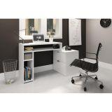 Mesa para Home Office com Nichos e 2 Gavetas Movelbento - Branco