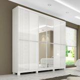 Guarda-Roupa Flavia 6 Portas Com Espelho Branco & Areia Moverama