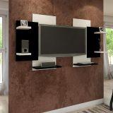Painel para TV Modern Branco & preto Multivisão