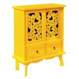 Buffet Renda Flor 2 Portas Amarelo
