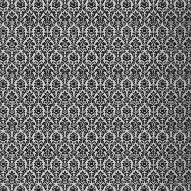 Papel de Parede Amarie Medalão Preto e Branco 53x1000cm Muresco