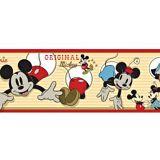Papel de Parede Border Coleção Disney Amarelo, Vermelho Mickey 2581-1