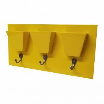 Quadro Itapema Amarelo MyWood MyWood Quadro porta chaves em Mdf