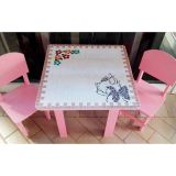 Mesa com 2 Cadeiras Tematica em Mosaico