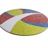 Tampo de Mesa em Mosaico Abstrato 80 cm