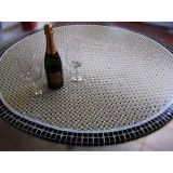 Tampo de Mesa em Mosaico Marroquino Bege 100 cm