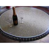 Tampo de Mesa em Mosaico Marroquino Bege 60 cm