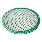 Tampo de Mesa em Mosaico Marroquino verde 100 cm