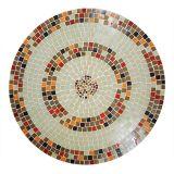 Tampo de Mesa em Mosaico Reto tons de marrom e bege 100 cm