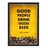 Quadro Porta Rolhas/Tampinhas Nerderia Good People Good Beer