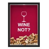 Quadro Porta Rolhas/Tampinhas Nerderia Wine Not