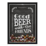 Quadro Porta Tampinhas Nerderia Good Beer black