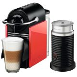 Cafeteira Nespresso Pixie C60 Vermelha - Aeroccino 3