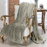 Cobertor Toque de Seda Casal Kaki Niazitex