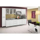 Cozinha Compacta Audácia Branco Branco 3D - Nicioli