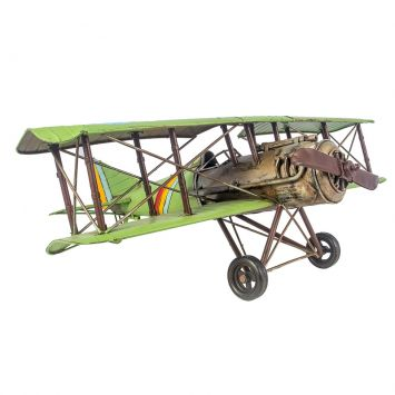Avião Verde Metal Oldway 22x60x56 Oldway 47149