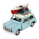 Enfeite Carro Canoa Metal Azul Oldway