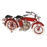 Enfeite Mini Moto Indian Metal Vermelho Oldway
