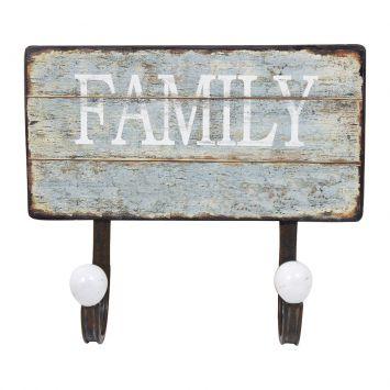 Gancheira Dupla Family Verde 23X20X6 Azul Oldway Oldway Dupla Family Verde