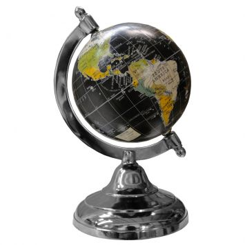 Globo mapa Decorativo Black Aluminium Base Oldway Oldway Globo Base