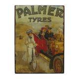 Placa de Metal Palmer Tires Oldway 33x25
