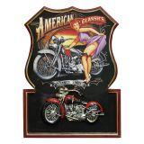 Quadro Moto American Classics 54X40X3 Preto Oldway