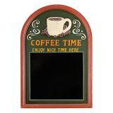 Quadro Negro Coffee Time Verde 60X40X4cm OLDWAY