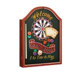 Quadro Welcome com jogo de dardos Oldway