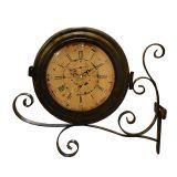 Relógio de Parede Estação Torre Marrom OLDWAY