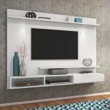 Painel para TV Home Quartzo Branco Olivar Móveis