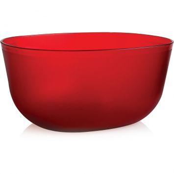 Saladeira Elipse Cristal Vermelho 2 l Ou Prisma