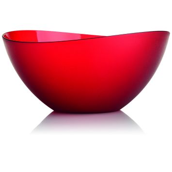 Saladeira Wave 4Lt Plástico Cristal Vermelho 4 l Ou Prisma
