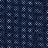 Adesivo de Parede Agulha Azul Marinho com Poá Branco Panoah