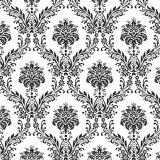 Adesivo de Parede Damasco Preto Fundo Branco 47x1000