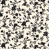 Adesivo de Parede Flor Maria Preto Fundo Palha 47x100