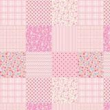 Adesivo de Parede Patchwork Rosa 47x100