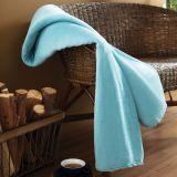 Cobertor Solteiro Microfibra Azul Agata Parahyba